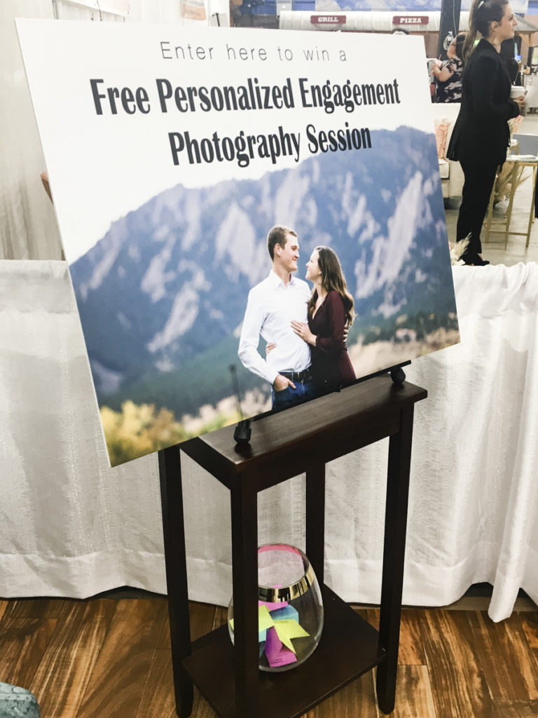 Giveaway at Wedding Show by Northern Colorado Wedding Show Hillary Shedd Photography