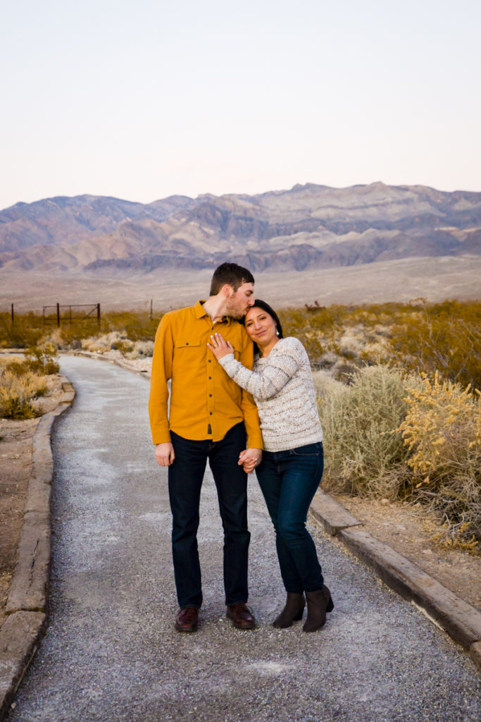 Engagement Session in Las Vegas the Springs Preserve