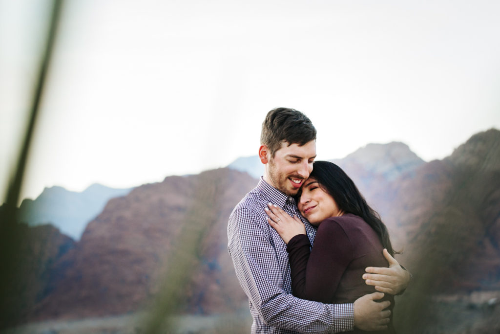 Engagement Session in Las Vegas Red Rock Canyon National Conservation Area in Calico Basin