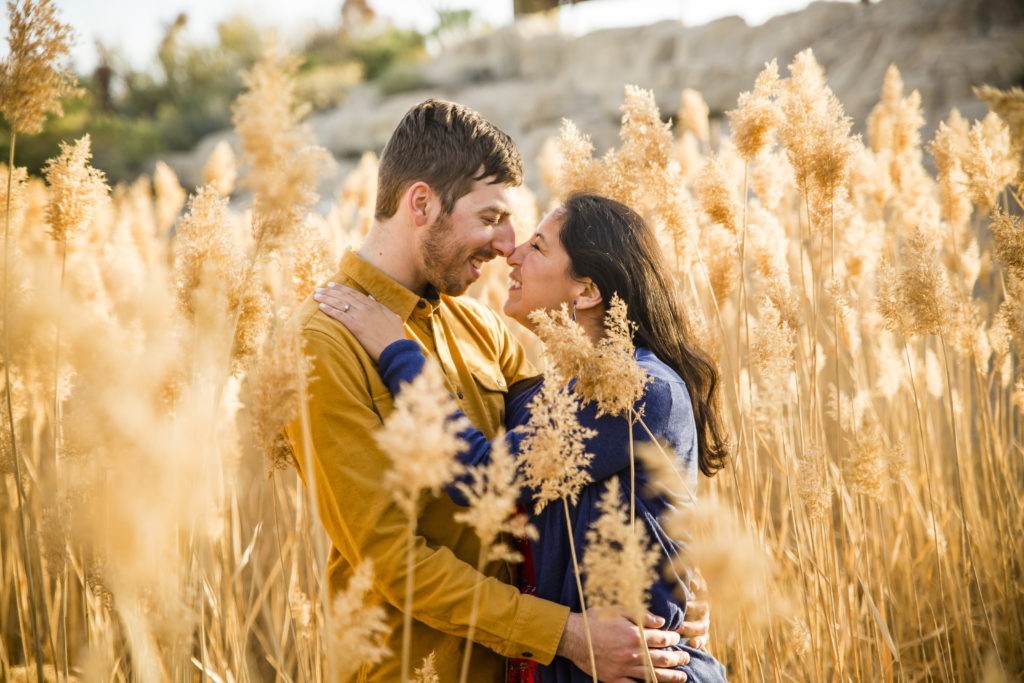 Engagement Session in Las Vegas Desert National Wildlife Refuge in Corn Creek